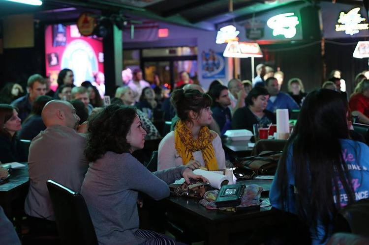 Students attend a Philosophy Slam at North Star The Pizza Bar