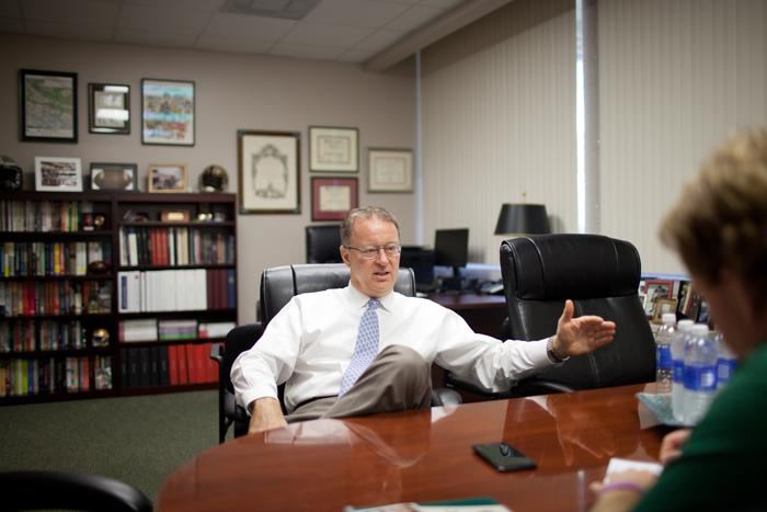 JU Chief Athletics Officer Donald H. Horner, Ph.D. discusses his position with Navigator sports editor Patrick Wilkins.
