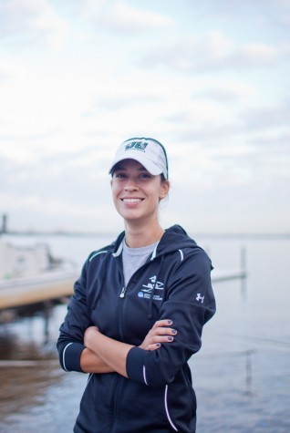 Coach Marci Robles now leads the JU men's rowing team. ��