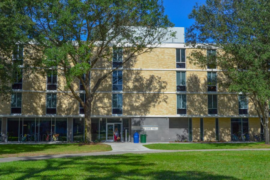 Williams Hall, newly renovated residential building.
