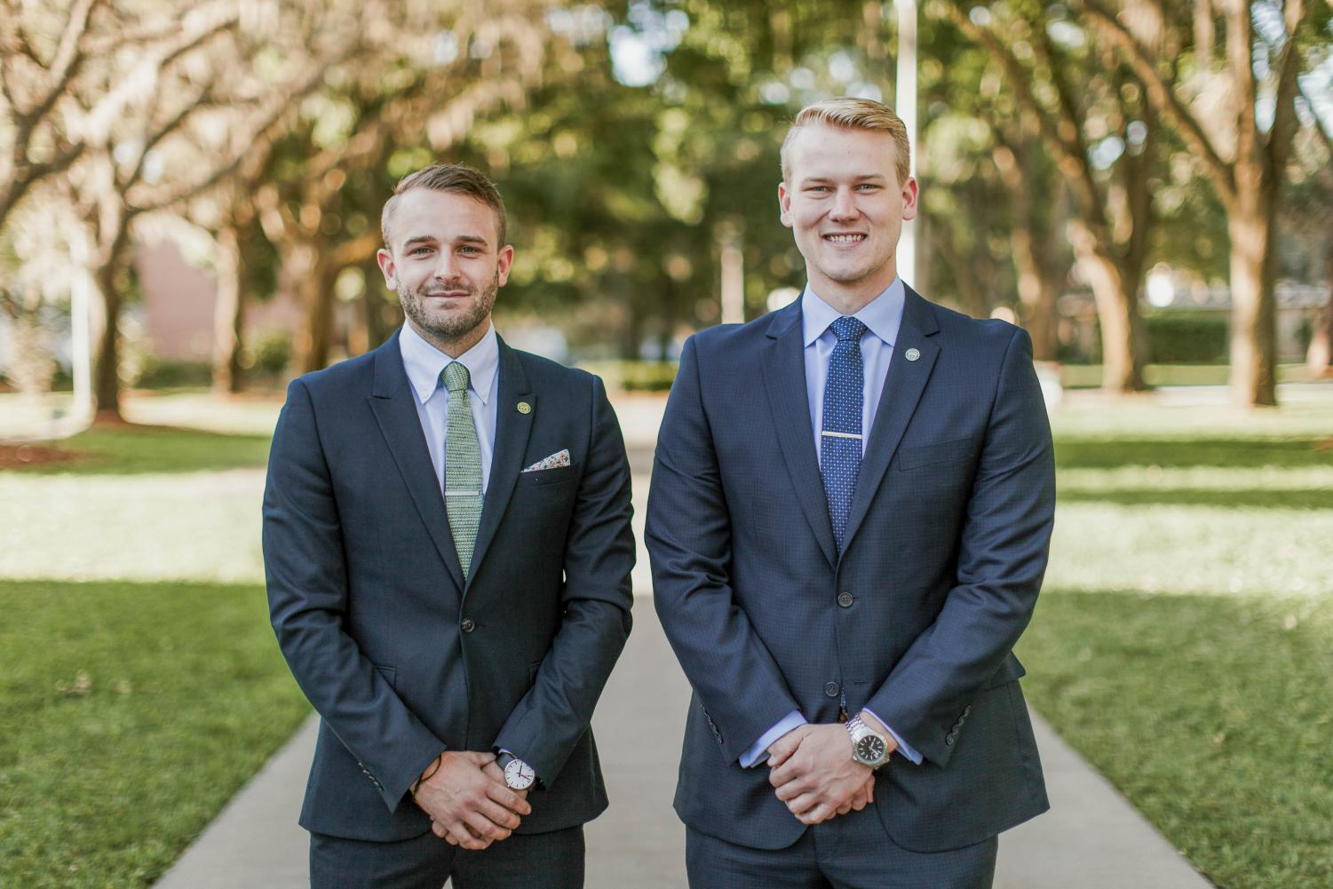 Left to right, 2017 Presidential Fellows Jack Burns and Luke Myhree.