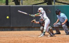 Serena Quintana hits it off the park during the UNF game on March 24.