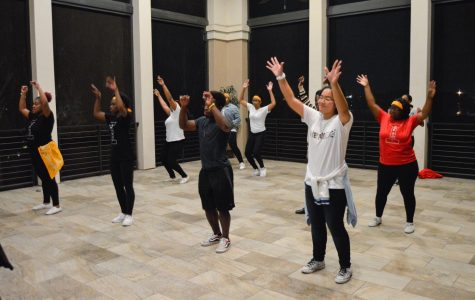 Participants of the Give Back and Dance event at the River House on Nov 30.
