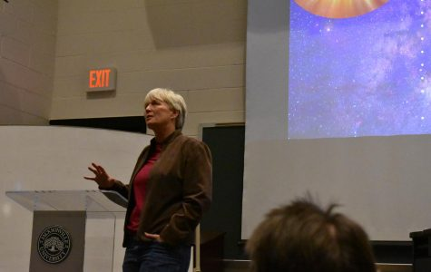 Speaker A.J. Roberts gives lecture on the views of faith and science.