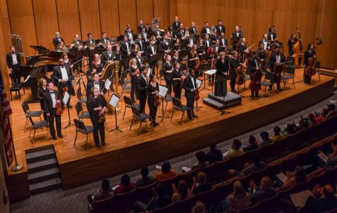 Musicians gathered to perform at Terry Concert Hall.
