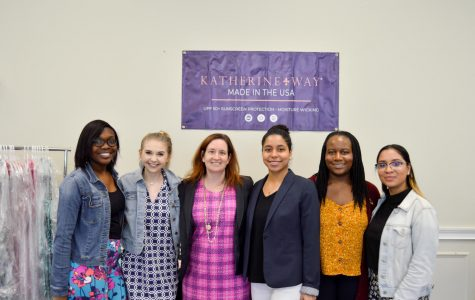From left to right: Kamia Addison, Janna Gaskins, Courtney Barclay, Courtney Pugh, and Jezabel Rosa during pop up shop.