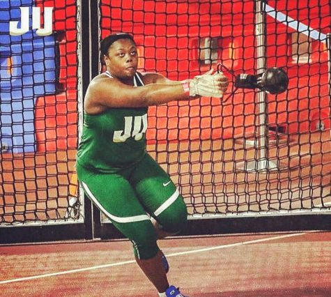 Sophomore thrower Sade Meeks makes program history by setting a new shot put record.
