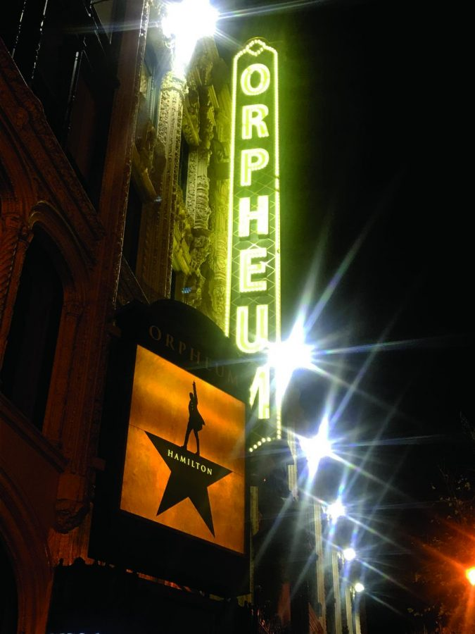 Hamilton+sign+outside+the+Orpheum+Theatre+in+San+Francisco%2C+CA